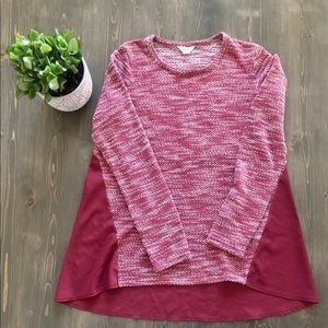 Lucky Brand Mixed Media Sweater